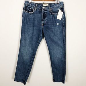 Free People Slim Boyfriend Denim Jeans